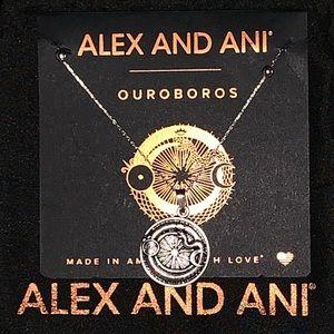 Alex and Ani Ouroboros Silver Adjustable Necklace